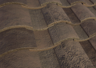 Low Poly Spanish Roof Tiles