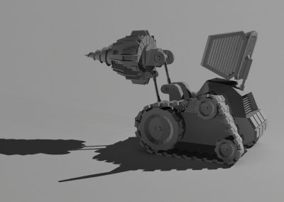 Cartoon Excavator – Pistons & Tracks